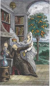 Engraving From Sabine Stuart De Chevalier Discours Philosophique Paris 1781, Alchemical And Hermetic Emblems 1